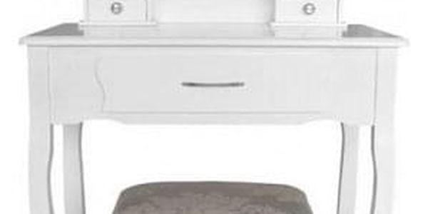 Toaletní stolek s taburetem Sofia,135 x 71 x 40 cm