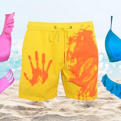 Dámské bikini i pánské plavky měnící barvu
