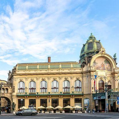 Pobyt se snídaní v secesním hotelu v centru Prahy