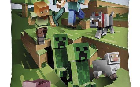 Halantex Polštářek Minecraft oboustranný, 40 x 40 cm