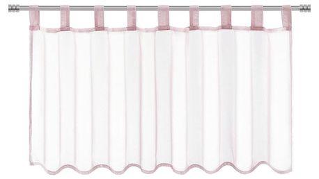 Záclona Krátká Hanna, 145/50cm, Růžová