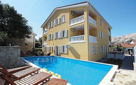 Chorvatsko - Baška na 4-15 dnů