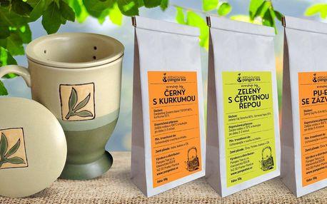Hrnek a sypané čajové směsi ProstěČaj bez aromat