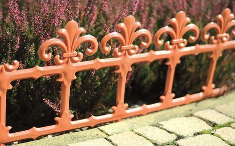 Zahradní plůtek Art 34 cm terakota