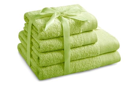 AmeliaHome Sada ručníků a osušek Amari světle zelená, 2 ks 50 x 100 cm, 2 ks 70 x 140 cm