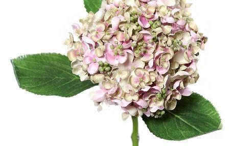 Umělá hortenzie světle růžová, 44 cm