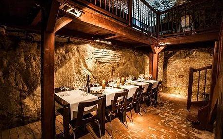 Degustace deseti vzorků vín v malém sklepě Hotelu Lahofer