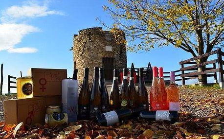 Degustace deseti vzorků vín Lahofer na hrádku Lampelberg