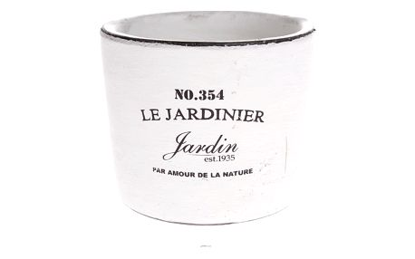 Keramický obal na květináč Le jardinier bílá, 14,5 cm