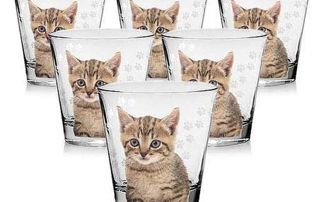 Cerve Sklenice Cat 250 ml, 6 ks