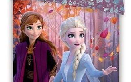Jerry Fabrics Dětské bavlněné povlečení Frozen 2 Sister purple, 140 x 200 cm, 70 x 90 cm