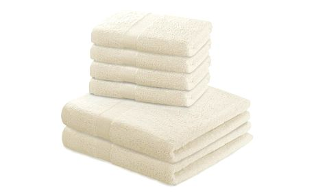 DecoKing Sada ručníků a osušek Marina krémová, 4 ks 50 x 100 cm, 2 ks 70 x 140 cm