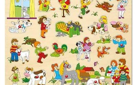 Woody Puzzle velké s úchyty