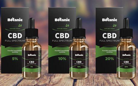 CBD Full Spektrum oleje s koncentrací 5, 10 i 20 %