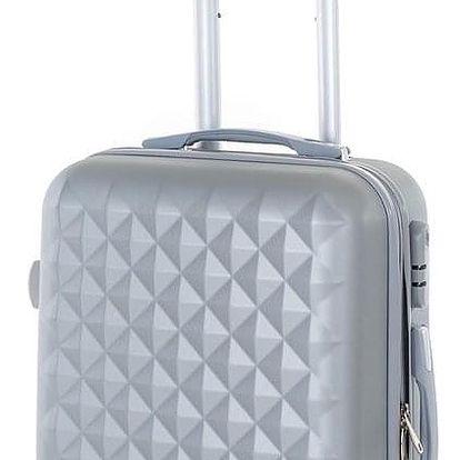 Pretty UP Cestovní skořepinový kufr ABS21 S, šedá