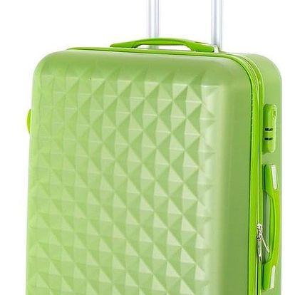 Pretty UP Cestovní skořepinový kufr ABS21 M, zelená