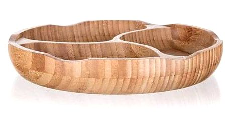 Banquet Miska dělená BRILLANTE Bamboo, 25 x 4 cm