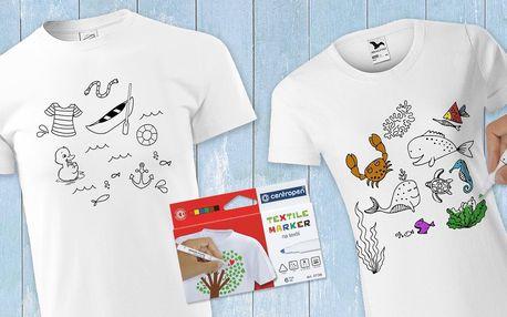 Dámská i pánská vybarvovací trička: různé motivy