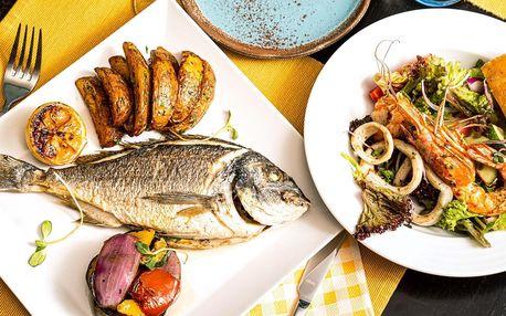 Středomořské menu s krevetami a pražmou pro 2 osoby