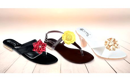 Dámská letní obuv s vyměnitelnými ozdobami
