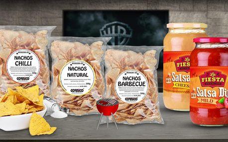 Doma jako v kině: balíčky nachos i salsy k namáčení
