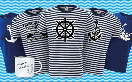 Bavlněná vodácká trička a parádní plecháčky