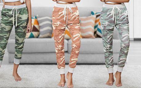 Dámské 7/8 kalhoty pro volný čas: 3 maskáčové vzory