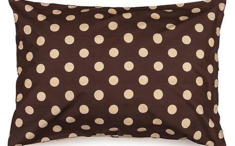 4Home Povlak na polštářek Puntík Čokoláda, 50 x 70 cm, 50 x 70 cm