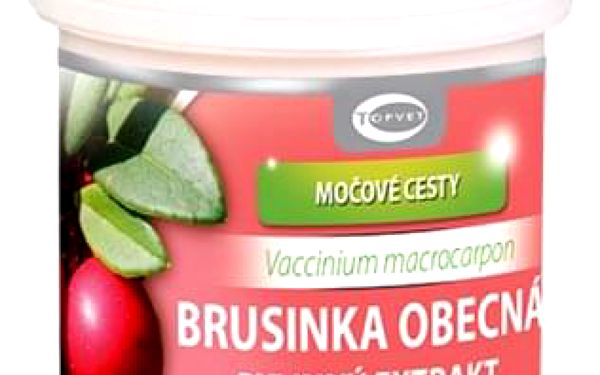 Topvet Bylinný extrakt Brusinka, 60 tobolek