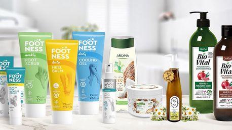 Balíčky voňavé kosmetiky pro péči o celé tělo