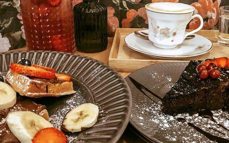Nápoj a dobrota: brownies a káva, vafle a limonáda