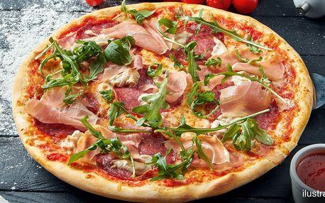 Pizza o průměru 32 cm podle výběru z 11 druhů