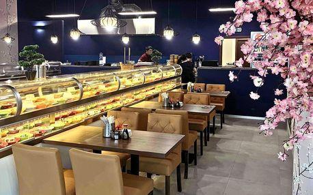 Neomezené hodování: 2 hod. running sushi na Proseku