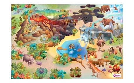Domarex Dětský kobereček Little Hippo Dinosauři, 75 x 112 cm