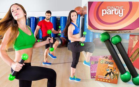 Zumba fitness balíček: činky a návod na krásné tělo