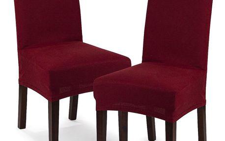 4Home Multielastický potah na židli Comfort bordó, 40 - 50 cm, sada 2 ks