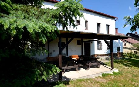 Ústecký kraj: Spacious cottage for groups with billiards and sauna with 8 bedrooms