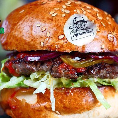 2 burgery od Kašpárka, hranolky, pití a rozvoz