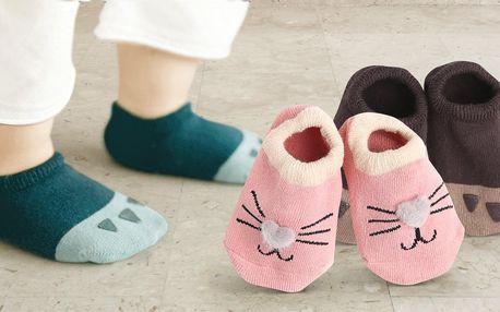 Dětské kotníkové ponožky s protiskluzovou ťapkou