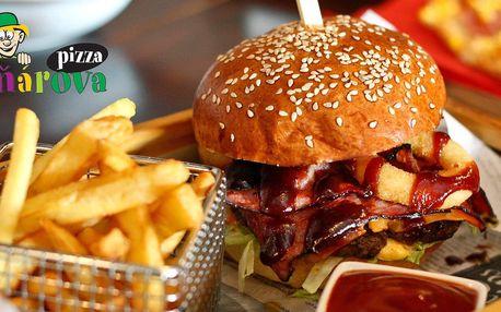 2 burgery od Paňára, hranolky, pití a rozvoz