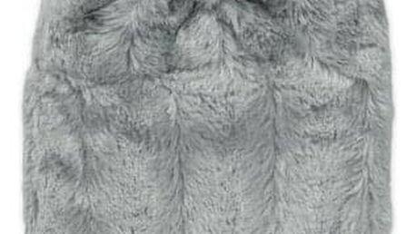 Hugo Frosch Classic termofor s obalem z umělé kožešiny šedý s podšívkou 1,8 l