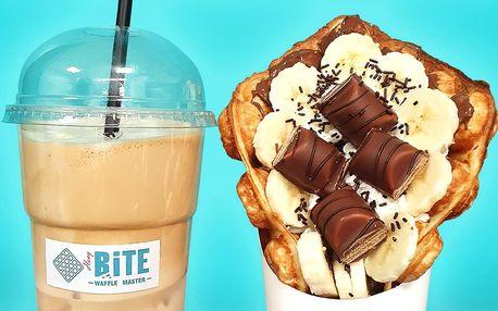 Bubble waffle se zdobením podle výběru i nápoj