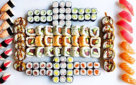 Sushi na Stodolní: 50 či 108 rolek se zeleninou i rybami