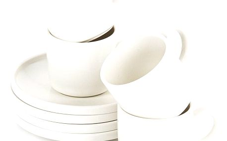 Mäser Sada porcelánových šálků s podšálky VADA, 200 ml, 4 ks