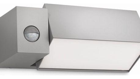 Philips 16943/87/16 Border Venkovní nástěnné svítidlo s čidlem 27 cm, šedá