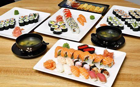 24–74 ks sushi. Maki, nigiri, závitky i wakame