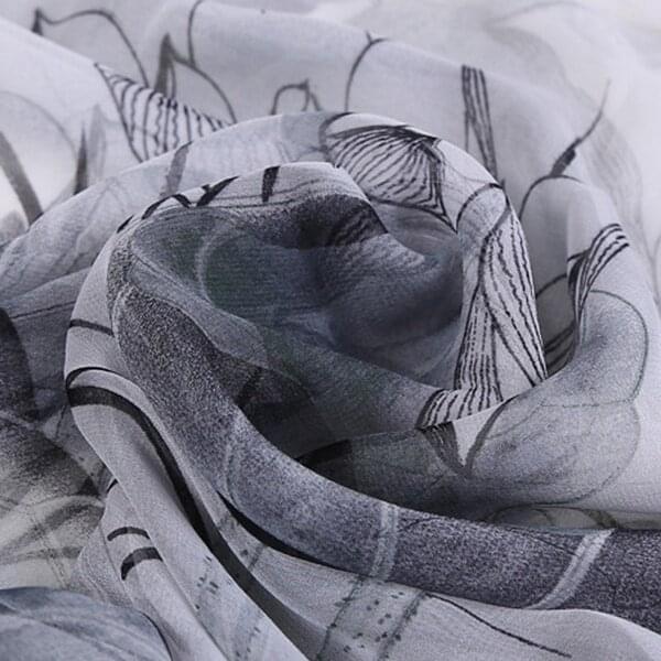 Šála s lekníny   Černobílá4