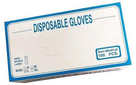 Jednorázové vinylové rukavice L
