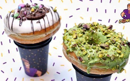1 či 2 donuty dle výběru a káva z Donuter Donuts