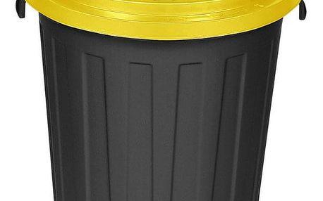 Plastový odpadkový koš Mattis 45 l, žlutá